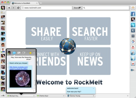 RockMelt Beta 2 New Chat