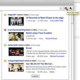 Google Chrome расширение YouTube Feed
